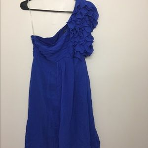 Guess by Marciano silk one shoulder dress Sz L